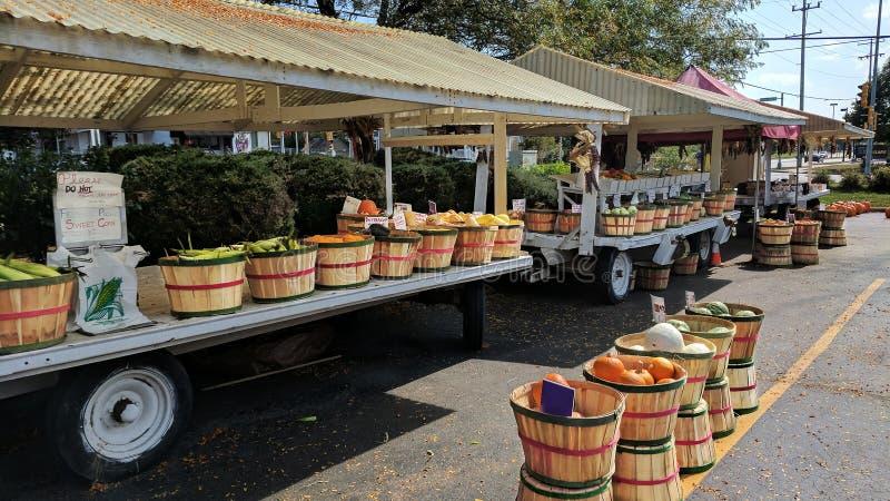 Gemüsemarkt der alten Zeit im Freien lizenzfreies stockbild