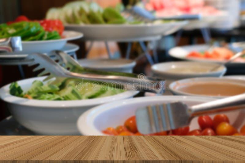 Gemüsenahrungsmittelbuffetverpflegung im Restauranthotel Essen von dinin stockbild