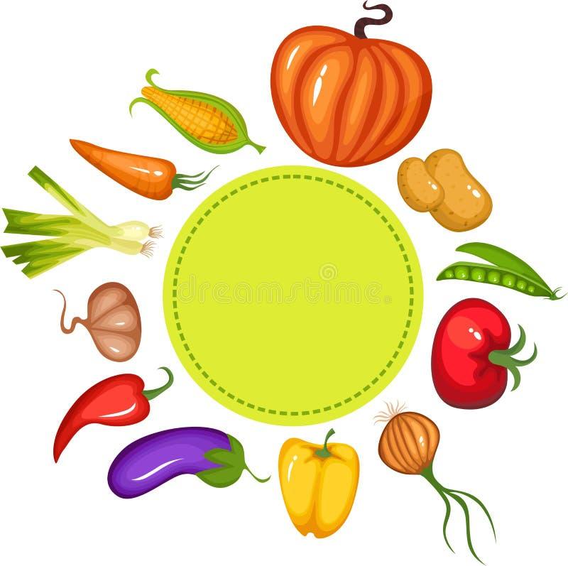 Gemüseset lizenzfreie abbildung