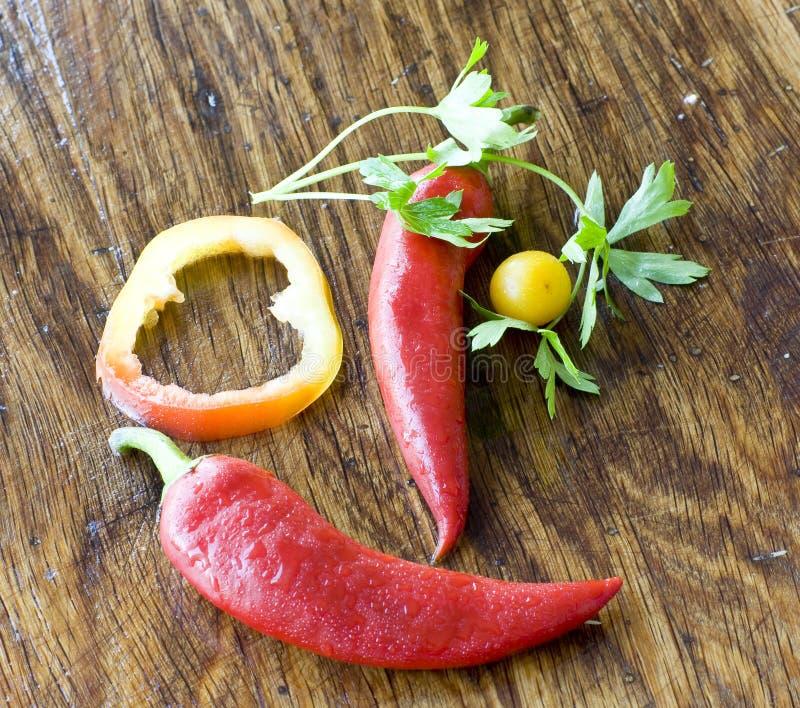 Gemüsesmiley lizenzfreie stockbilder