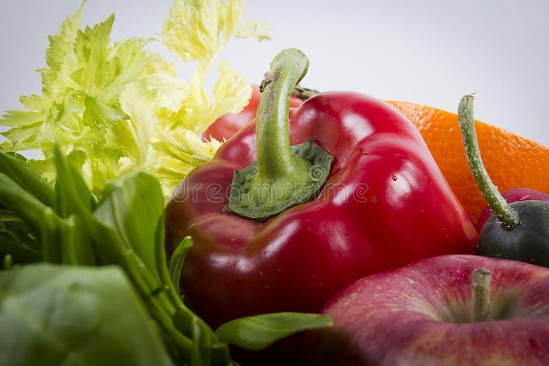 Gemüsesortiment und Obst lizenzfreies stockfoto