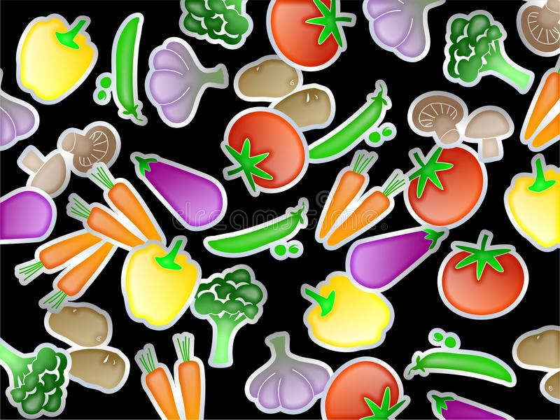 Gemüsetapete vektor abbildung