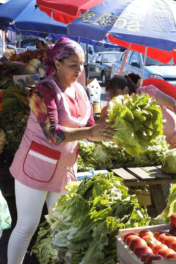 Gemüseverkäufer lizenzfreie stockbilder