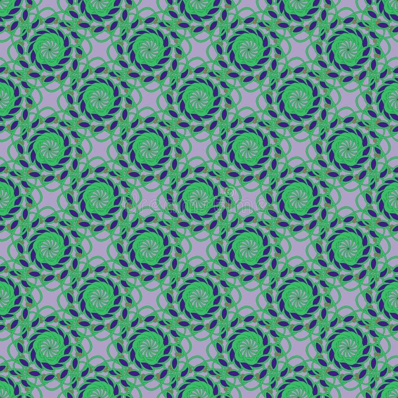 Gemüseverzierung des nahtlosen Musters des Vektors lizenzfreie abbildung