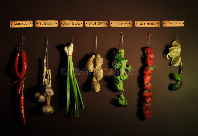 Gemüsewoche lizenzfreies stockfoto