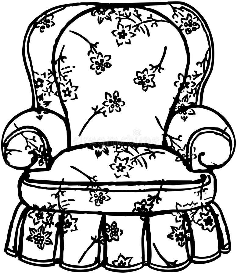 Sessel gezeichnet  Gemütlicher Sessel vektor abbildung. Illustration von ruhesessel ...