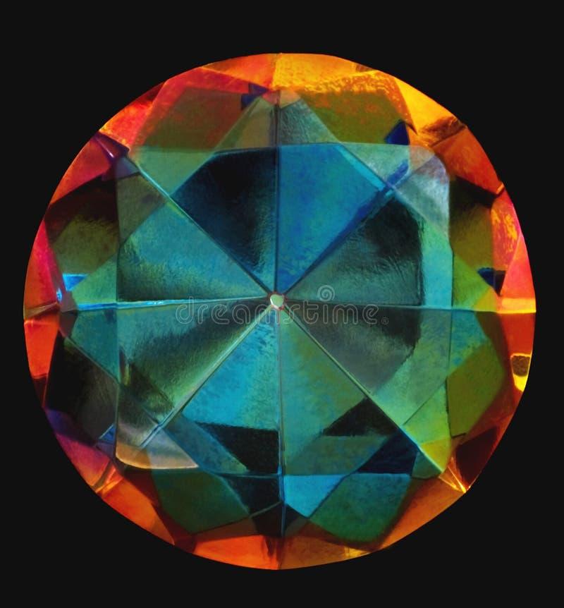 Gem close-up. Close-up of a gem on black backdrop royalty free stock image