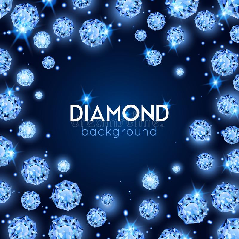 Gem Diamond Background royalty free illustration