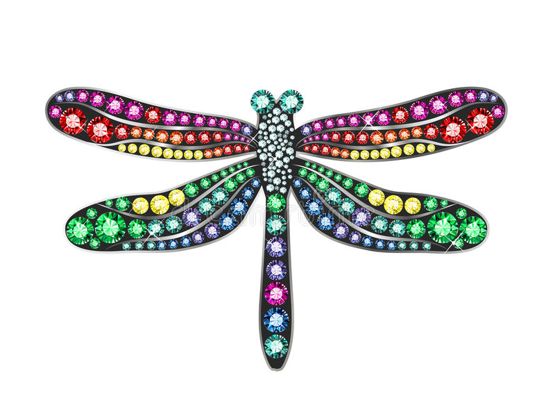 Gem Dragonfly stock abbildung