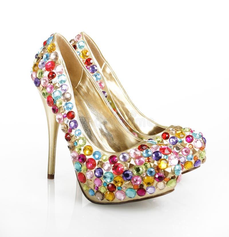 Gem Encrusted Golden Heels