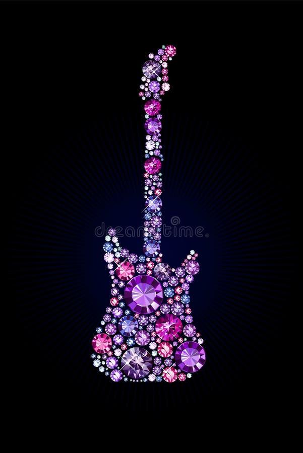 Gem Guitar vektor abbildung