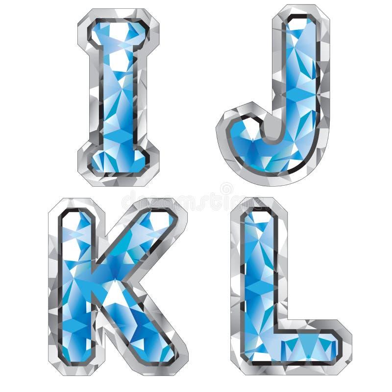 Download Gem letter I J K L stock illustration. Image of font, object - 8270352