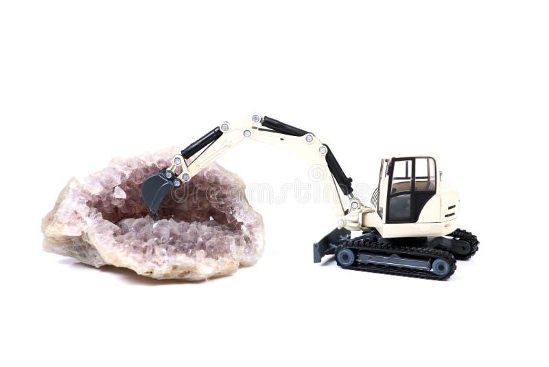 Gem mining stock image
