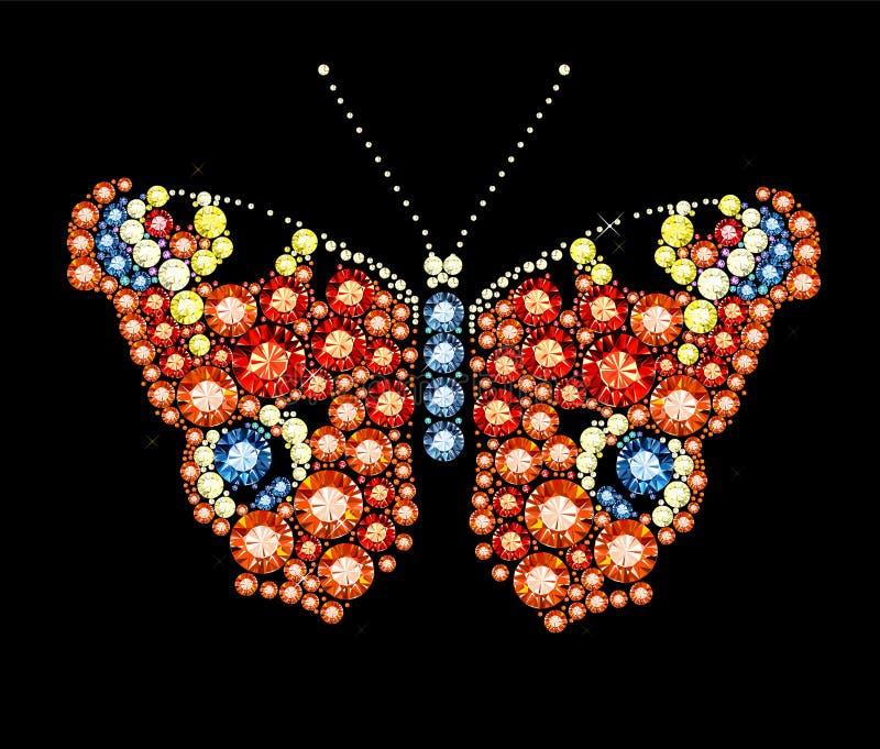 Gem Peacock Butterfly vector illustratie