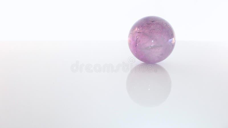 Gem Stone Ball rosa rotondo fotografia stock