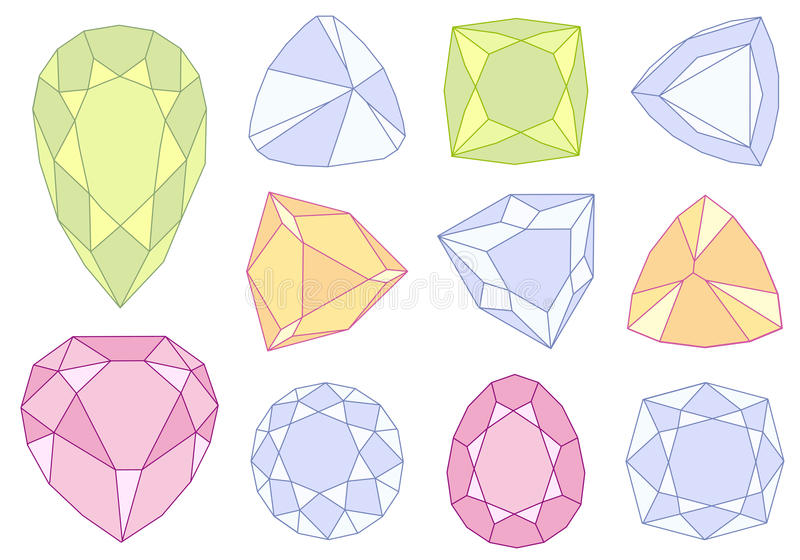 Download Gem stones, stock vector. Illustration of diamond, object - 18948572