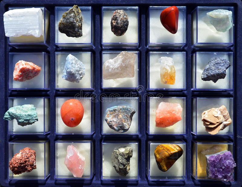 gem stones collection royalty free stock photography