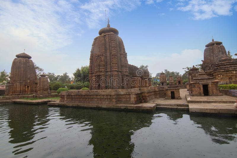 Gem van Odisha-Architectuur, Mukteshvara-Tempel, gewijd die aan Shiva in Bhubaneswar, Odisha, India wordt gevestigd stock fotografie