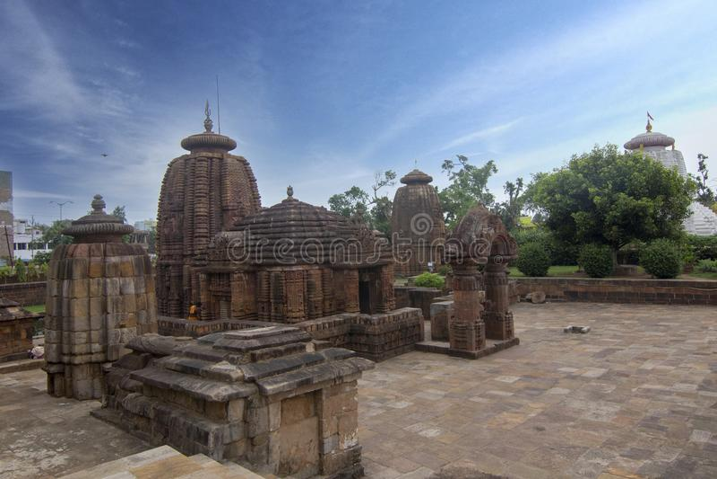 Gem van Odisha-Architectuur, Mukteshvara-Tempel, tiende-eeuw Hindoese tempel gewijd die aan Shiva in Bhubaneswar, Odisha, India w stock afbeelding