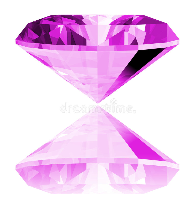 gema 3d Amethyst isolada ilustração stock