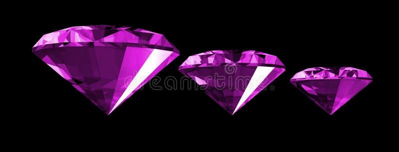 gema 3d Amethyst isolada ilustração royalty free