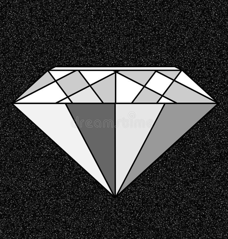 Gema branca cinzenta e abstrata ilustração do vetor