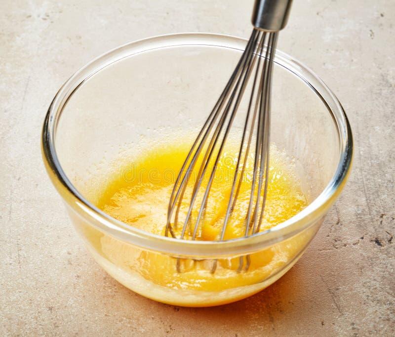Gema chicoteada com açúcar fotografia de stock