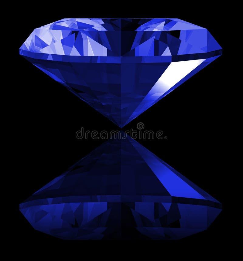 gema da safira 3d isolada ilustração royalty free