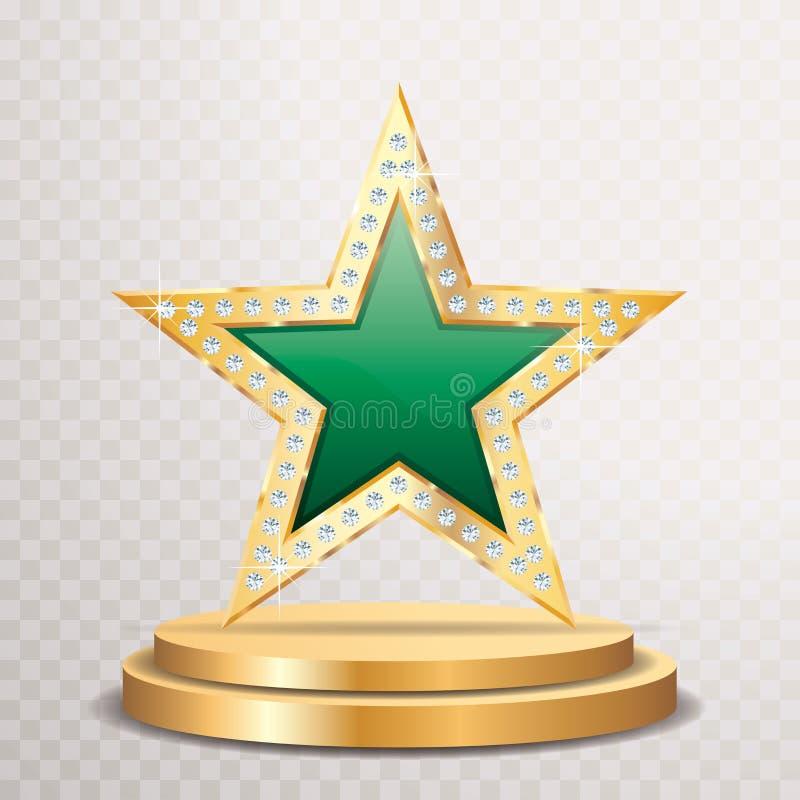 Gema de oro verde de la estrella libre illustration