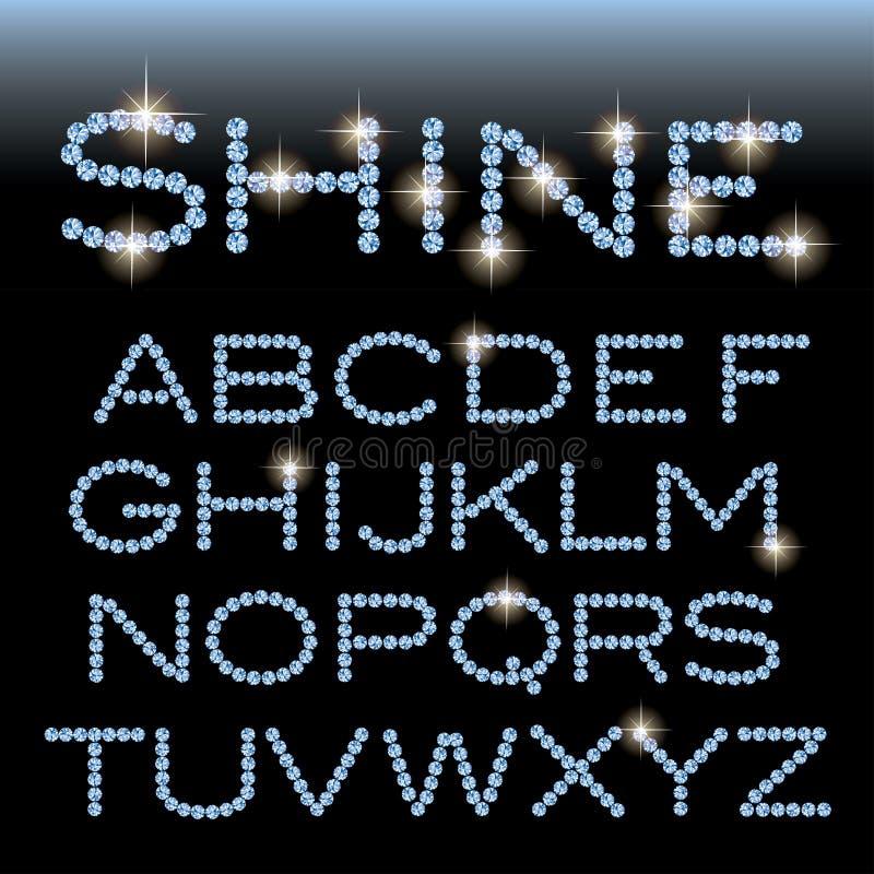 Gema do alfabeto do brilho ilustração royalty free