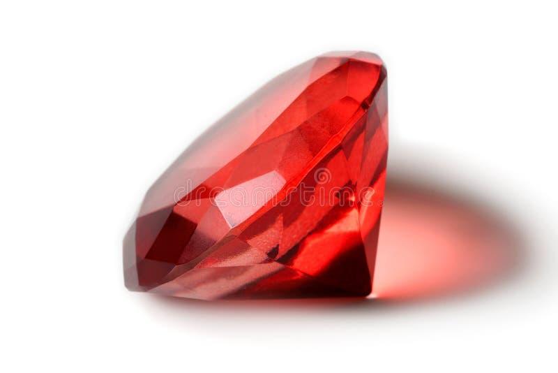 Gema vermelha bonita imagens de stock