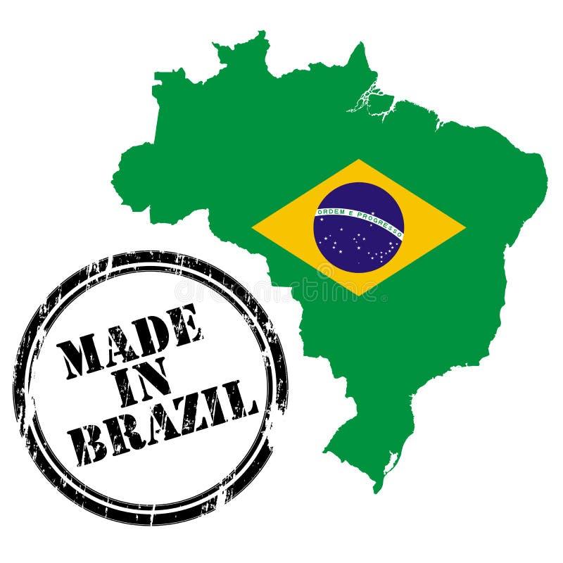 Gemaakt in Brazilië vector illustratie