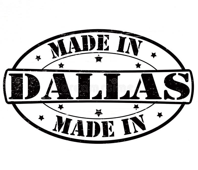 Gemaakt in Dallas vector illustratie