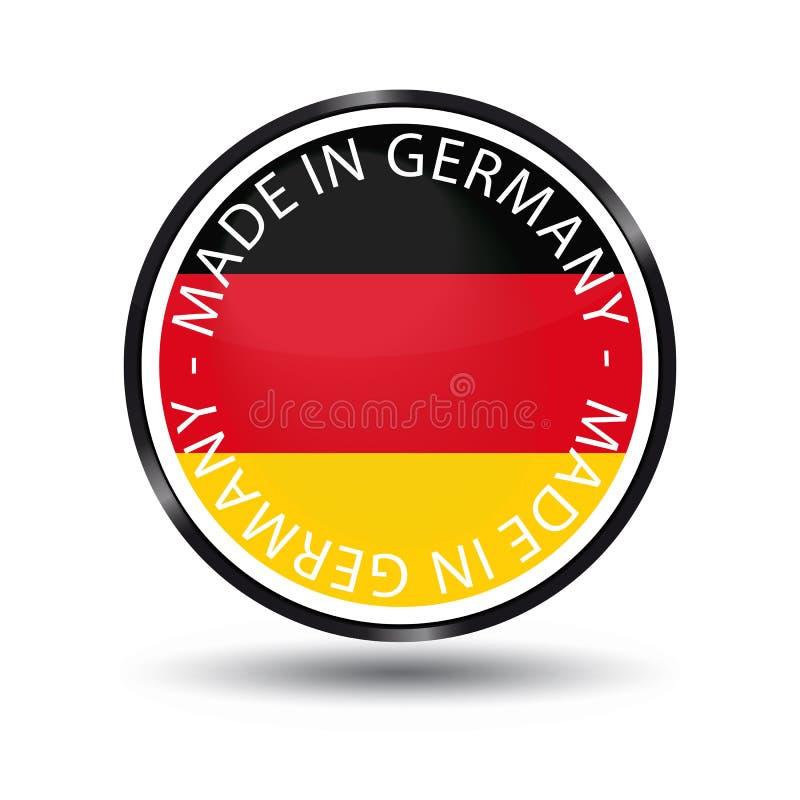 Gemaakt in de Glanzende Knoop van Duitsland - VectordieIllustratie - op Wit wordt geïsoleerd stock illustratie