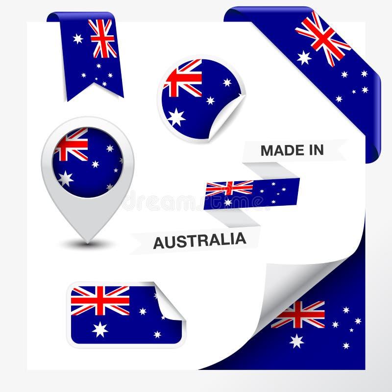 Gemaakt in de Inzameling van Australië royalty-vrije illustratie