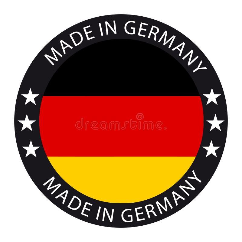 Gemaakt in de Knoop van Duitsland - VectordieIllustratie - op Wit wordt geïsoleerd stock illustratie