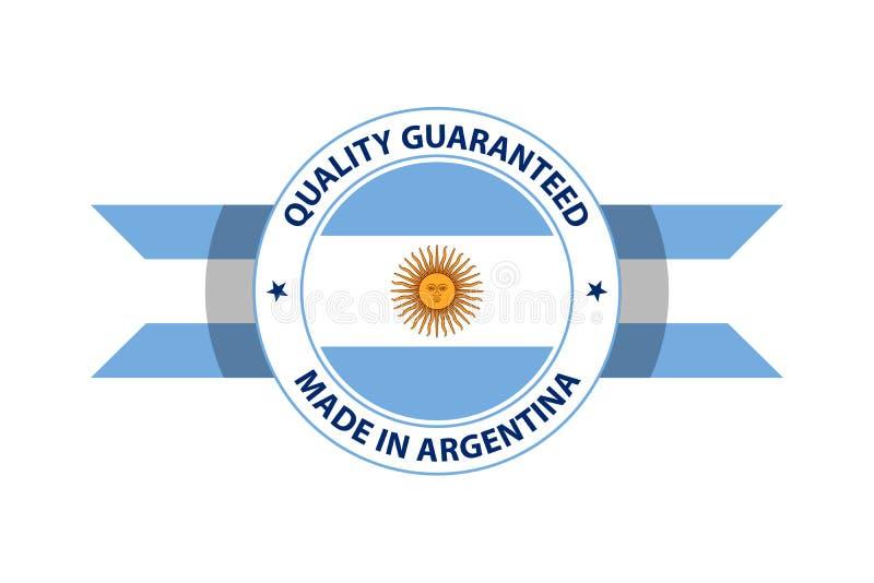 Gemaakt in de kwaliteitszegel van Argentinië Vector illustratie stock illustratie