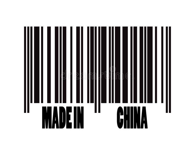 Gemaakt in de streepjescode van China royalty-vrije illustratie