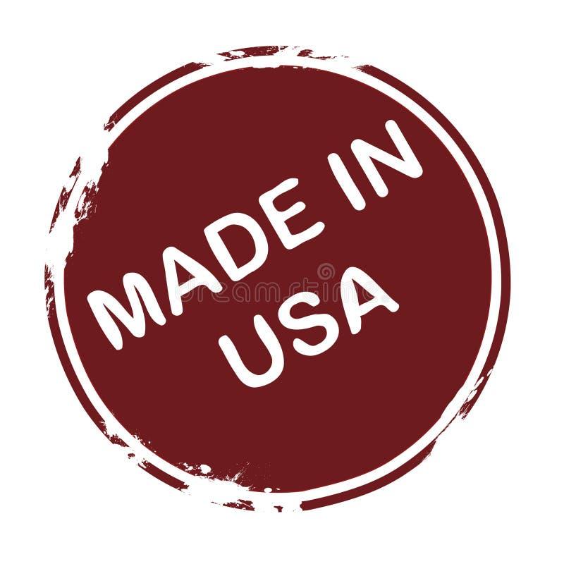 Gemaakt in de V.S. stock illustratie