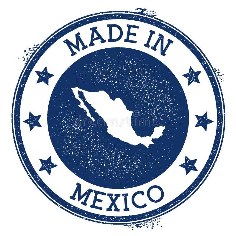 gemaakt in de zegel van Mexico stock illustratie