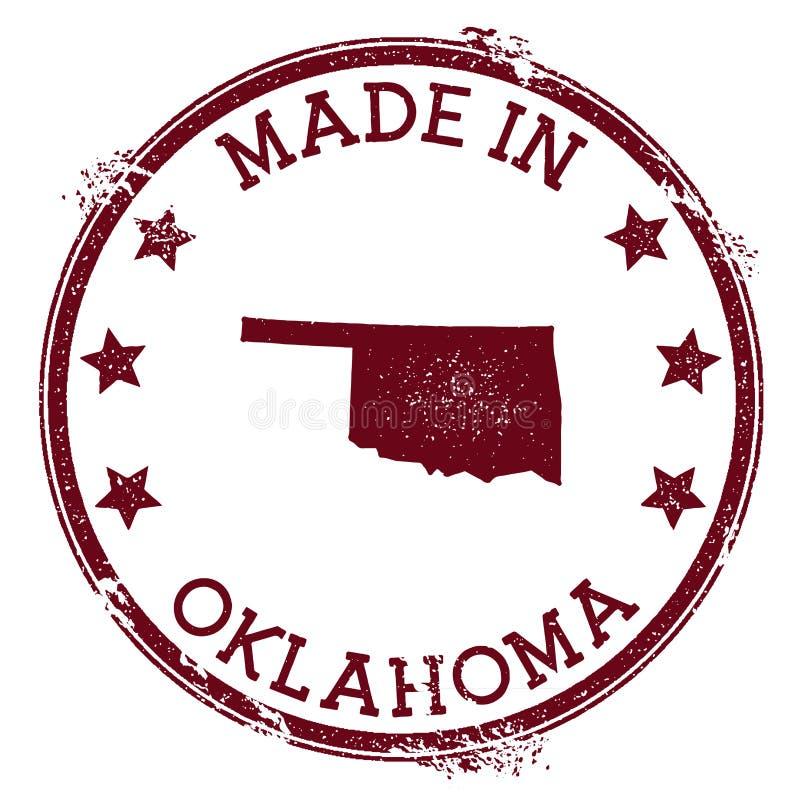 Gemaakt in de zegel van Oklahoma stock illustratie