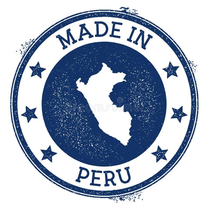 Gemaakt in de zegel van Peru vector illustratie
