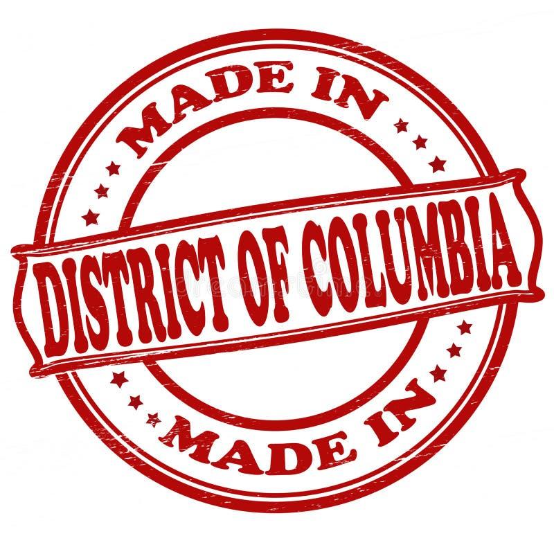 Gemaakt in District van Colombia stock illustratie