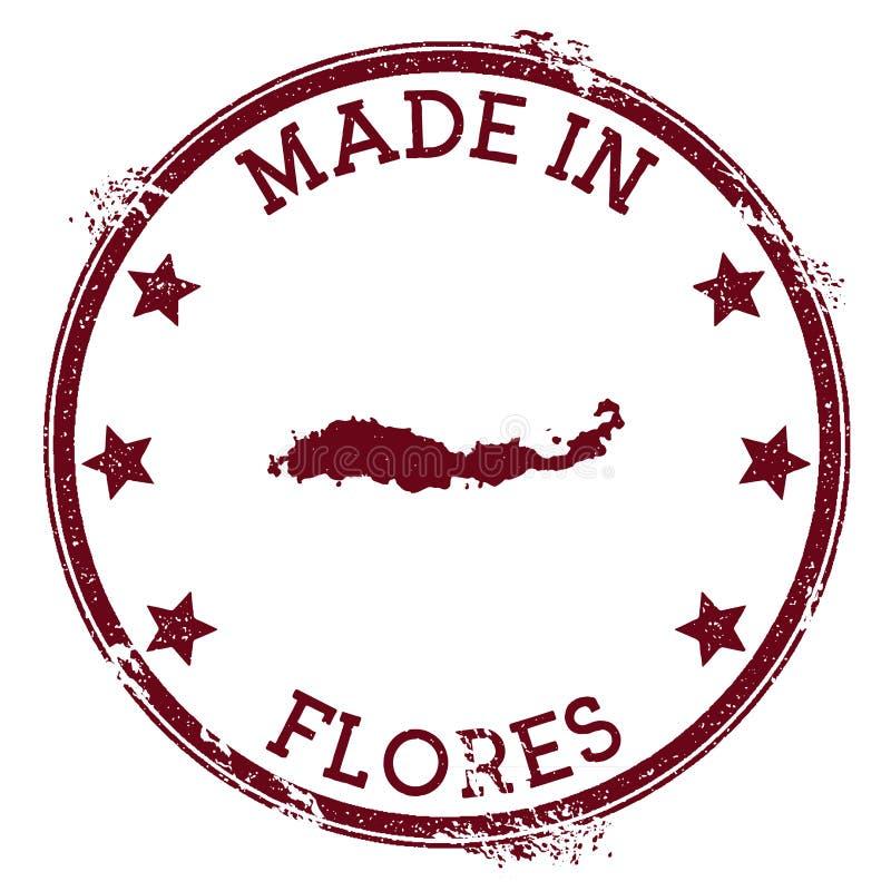 Gemaakt in Flores-zegel stock illustratie