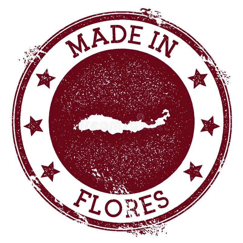 Gemaakt in Flores-zegel royalty-vrije illustratie