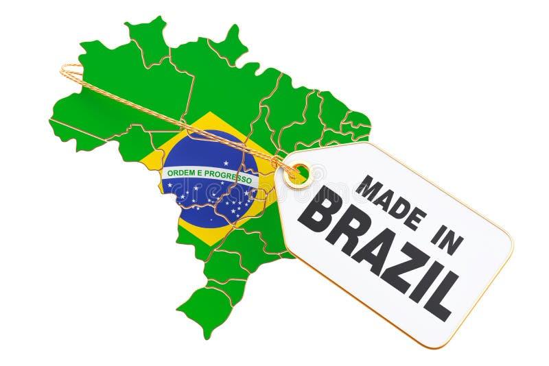 Gemaakt in het concept van Brazilië, het 3D teruggeven royalty-vrije illustratie
