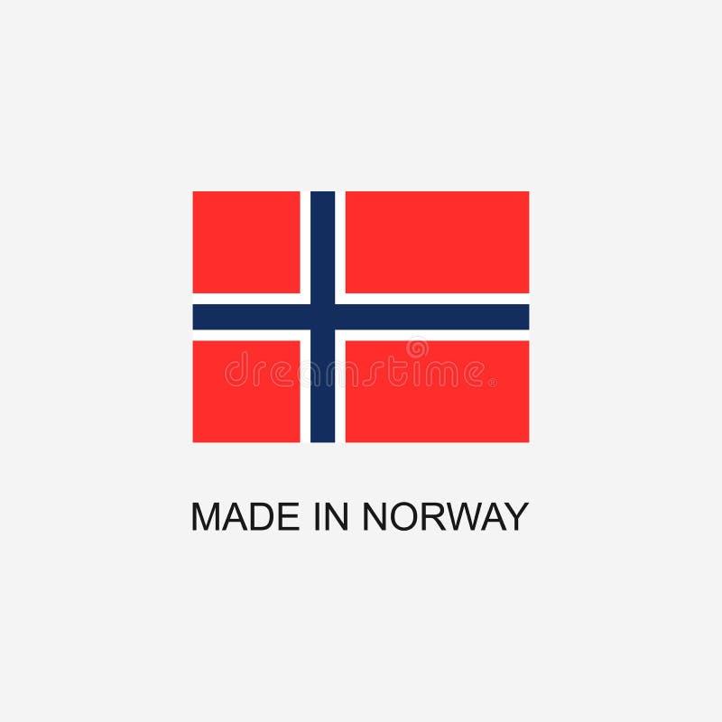 Gemaakt in het teken van Noorwegen royalty-vrije illustratie