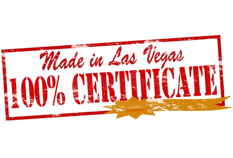 Gemaakt in Las Vegas honderd percentencertificaat royalty-vrije illustratie