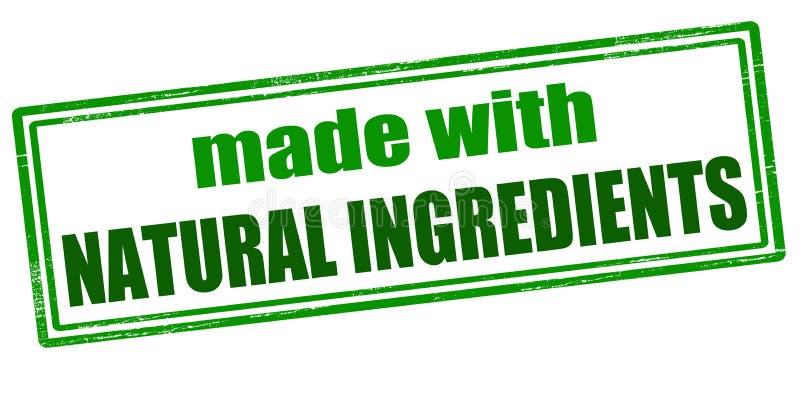 Gemaakt met natuurlijke ingrediënten royalty-vrije illustratie