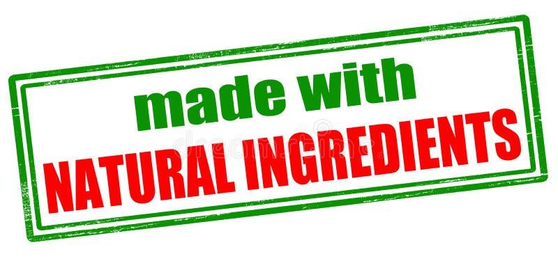 Gemaakt met natuurlijke ingrediënten vector illustratie
